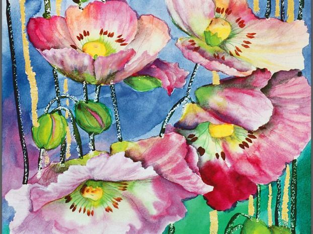 Акварельки: Цветочки