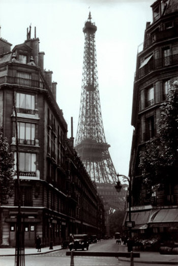 A typical Paris street view in Hemingway's time there - this is from 1925.